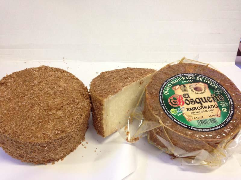 queso de oveja emborrado bosqueño