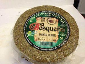 queso de oveja curado en romero