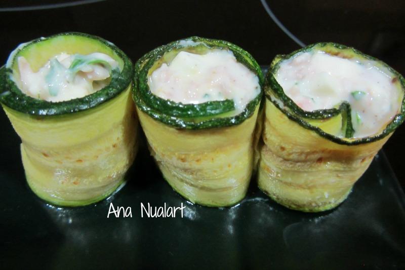 Sandwich de calabacin y queso tierno